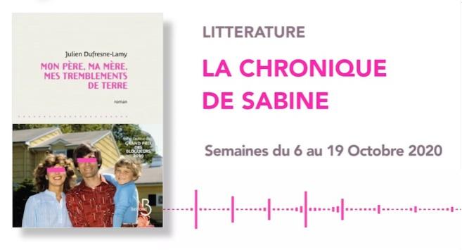 La Chronique de Sabine du 03 Octobre 2020
