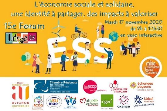 Le forum de l'ESS aura lieu en visioconférence le 17 Novembre
