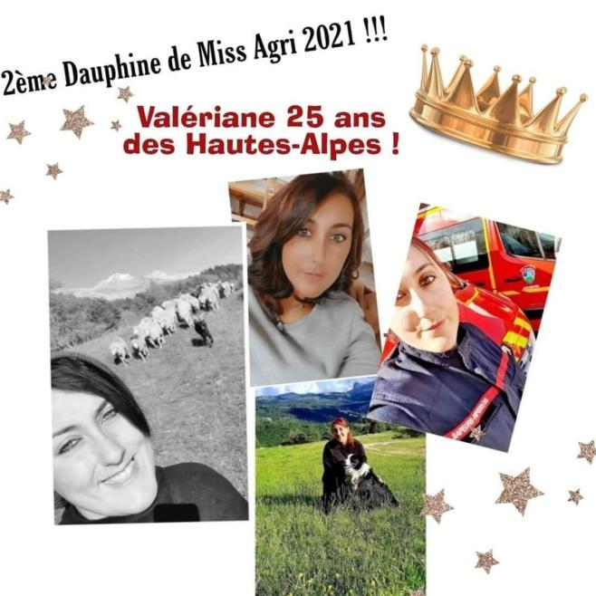 Valériane élue 2 ème dauphine, au concour Miss France agricole 2021
