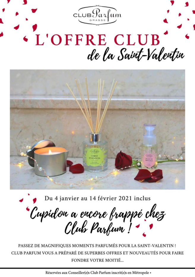 pour la saint Valentin : Cupidon a frappé chez club parfum !