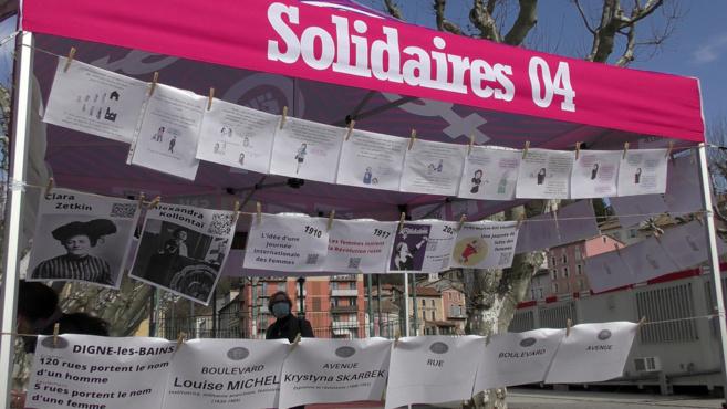 La parité entre femmes et hommes : c'est le souhait de Femmes Solidaires