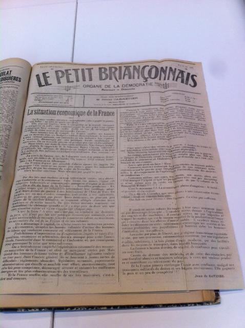 Quand «le petit Briançonnais» évoquait la France en 1921