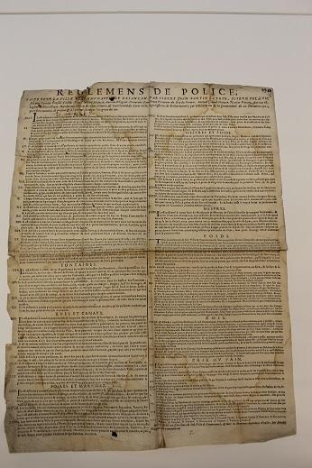 1702, le règlement de police de Briançon était affiché
