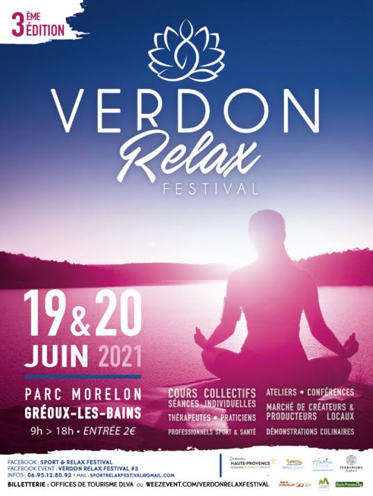 3ème édition du Verdon relax FESTIVAL à Gréoux-les-Bains
