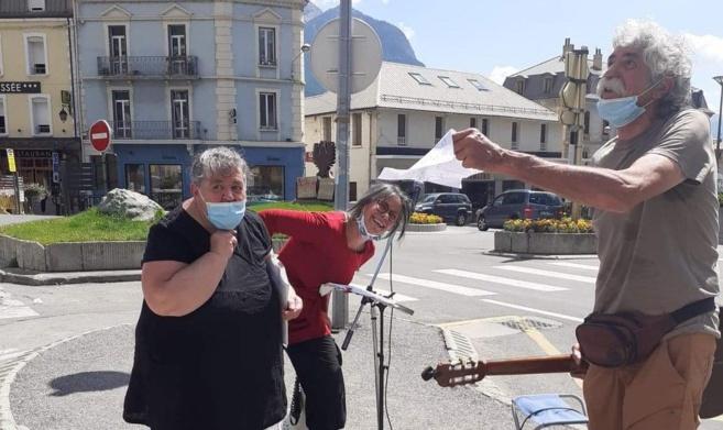 Un appel national  pour la marche des libertés le 13 juin  : Briançon a répondu présent ce samedi !