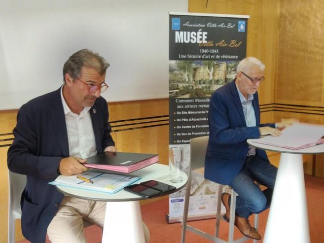 Jean-Luc Chauvin, président de la CCIAMP et Bernard Mossé, président de l'association Villa Air Bel