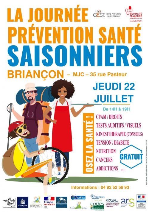 Une journée prévention santé saisonniers à Briancon