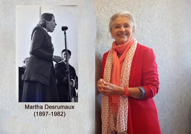 Martha Desrumaux et Jacqueline Hennegrave