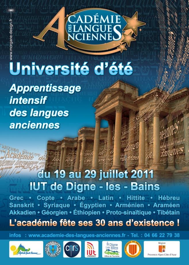 L'IUT de Digne accueillait la 11ème Académie de langues anciennes cet été.