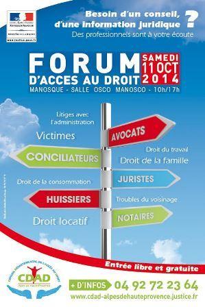 Manosque accueille un forum d'accès au Droit samedi