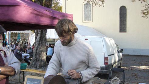 La foire de la poire Sarteau a planté le décor dans le village de La Javie.