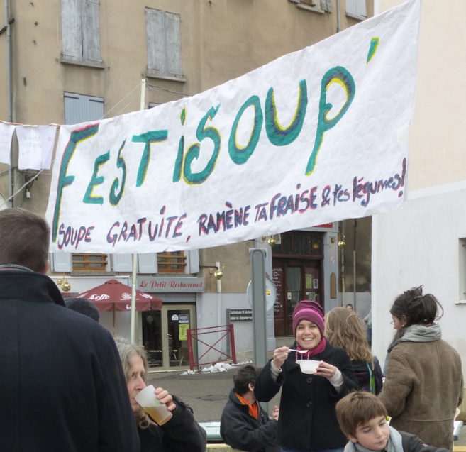 Samedi 29 novembre, une festi soupe sur le marché de Digne les bains.