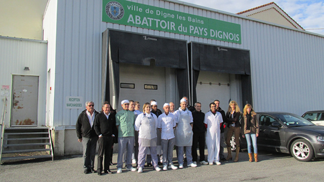 Les apprentis-bouchers de Digne vont bénéficier d'un partenariat positif.