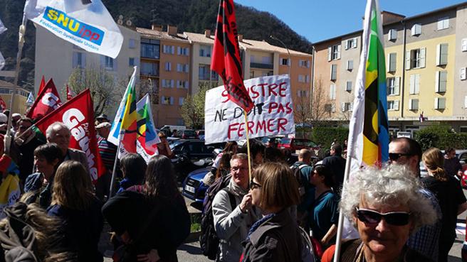 Manifestation à Digne contre l'austérité