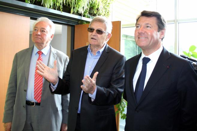 Le candidat de la droite aux élections régionales, Christian Estrosi en visite à Sisteron hier !