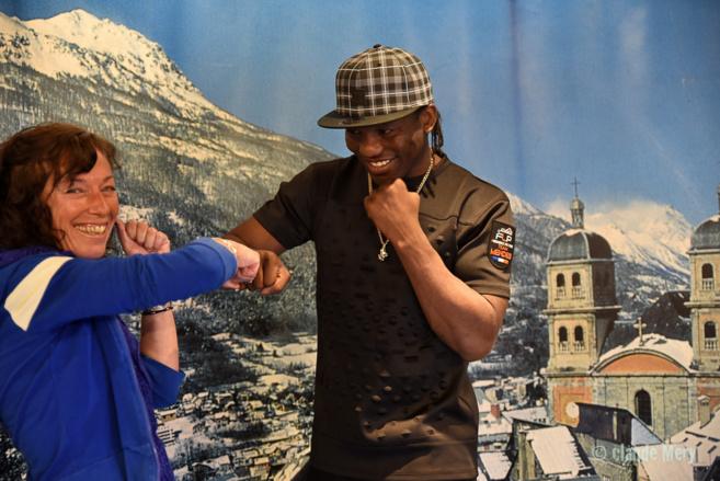 Phénomène de la boxe, Hassan N'Dam s'entraîne à Briançon