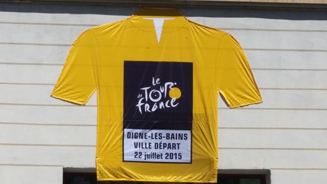 A Digne-les-Bains, Tout est prêt pour l'accueil du Tour de France.