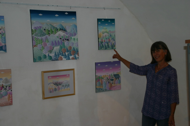 Exposition Cathy Visse au Café Plumer à Gap