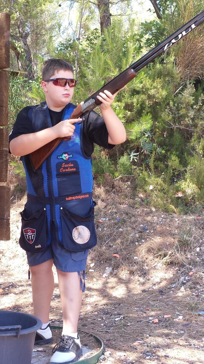 Sacha, champion de Ball Trap à 11 ans