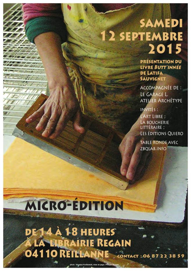 La Micro Edition à la librairie Regain de Reillanne.