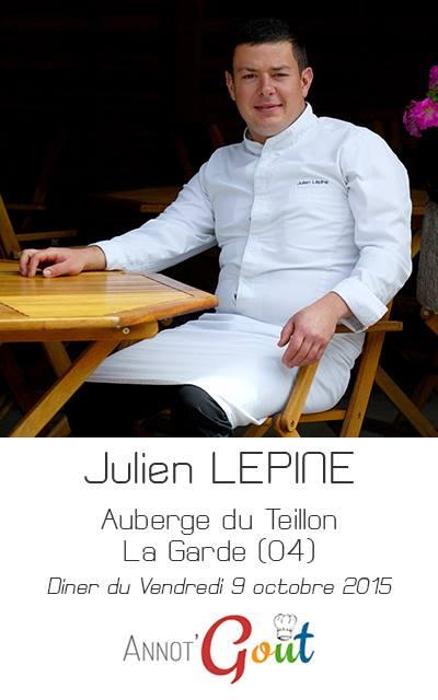 Ouverture de la 4ème édition d'ANNOT'GOUT par Julien Lepine, Chef de l'Auberge du Teillon