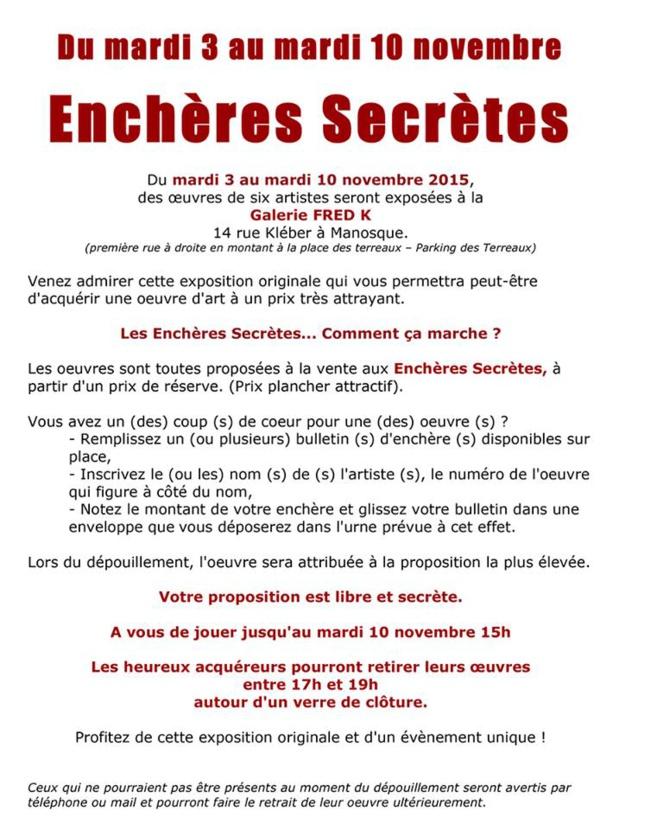 Adjugées mais pas encore vendues, participez aux enchères secrètes à la galerie Fred K