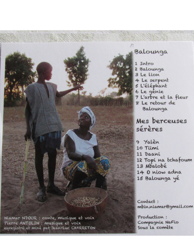 Un CD de contes et berceuses sérères disponible à partir du 15 novembre 2015