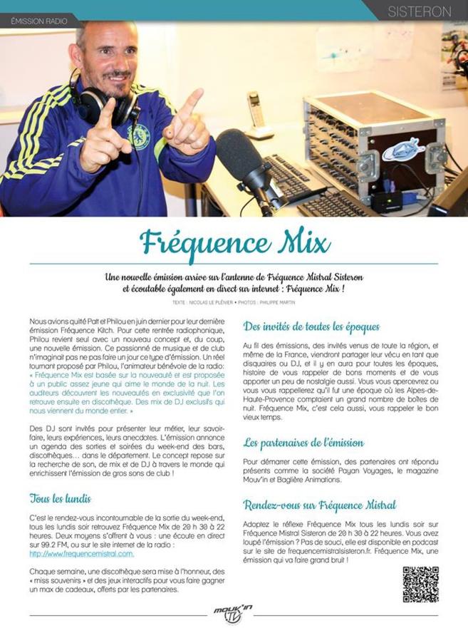 FRÉQUENCE MIX - LUNDI 16 NOVEMBRE 2015 !