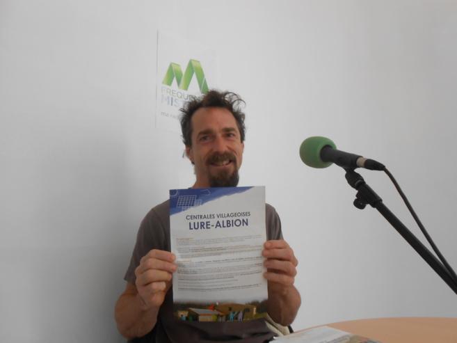 Mathieu Caron, un des fondateurs de centrales villageoises Lure-Albion. un projet qu'il porte depuis longtemps.