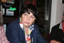 Michèle Rivasi au restaurant Le Stendhal à Châteaux-Arnoux.@Camille Garcia