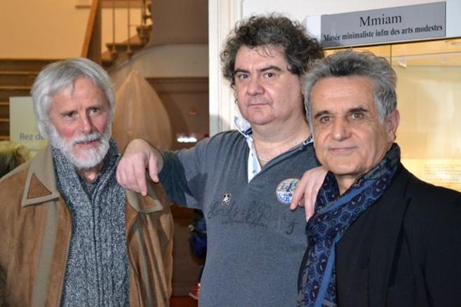 De gauche à droite Pierre Laroche - Christophe Domenge et Patrice Saunier