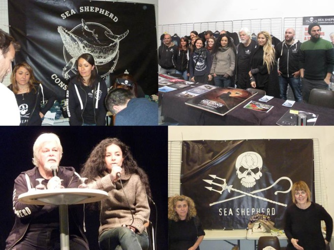A Draguignan, une déferlante de 1100 participants venus écouter Paul Watson co-fondateur emblématique de Greenpeace et Président de Sea Shepherd