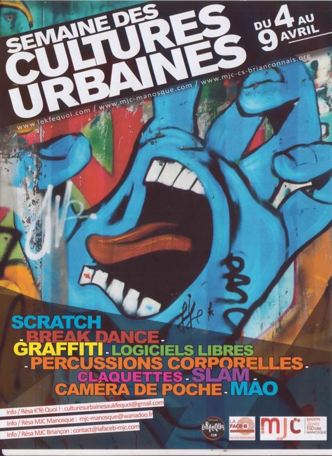 La semaine des cultures urbaines, c'est du 4 au 9 avril!