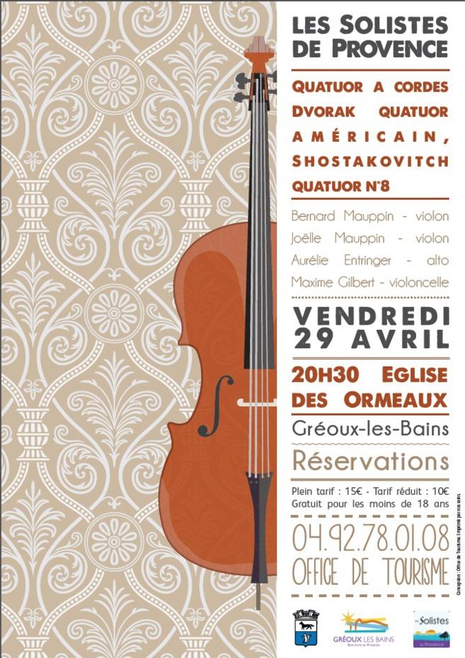 Un quatuor à cordes surprenant à Gréoux