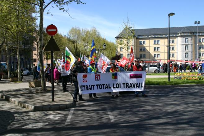 A Gap, la manifestation contre la loi travail a fait du bruit
