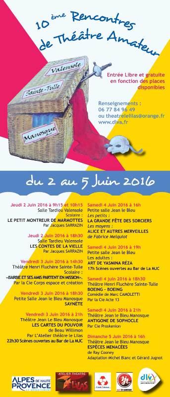 Du 2 au 5 juin, la DLVA accueille les Rencontres de Théâtre Amateur