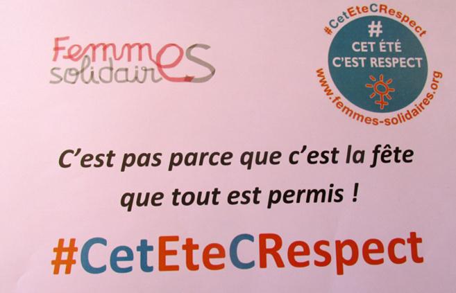 Femmes Solidaires lance la campagne « Cet été c'est respect »