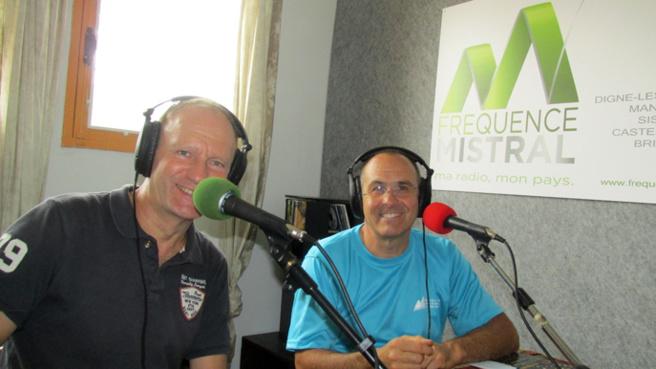 Hugues Degueurce et Aldo Bignals Président du Club Alpin français de Haute Provence
