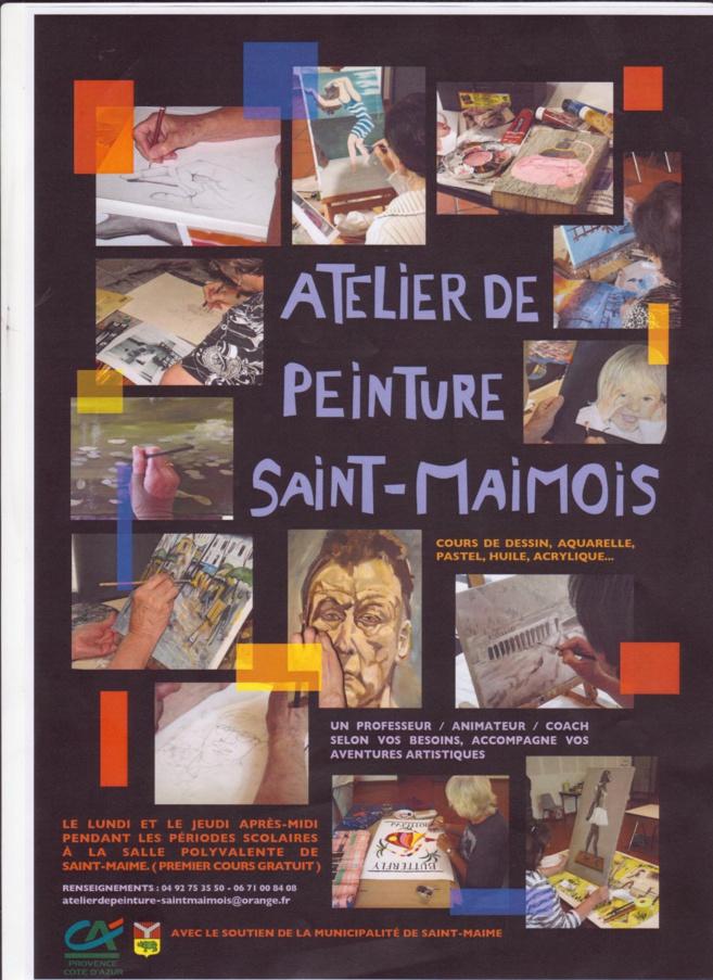 Ateliers de peinture et arts plastiques regroupent des habitants de Saint Maime