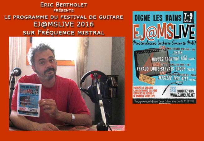 Eric Bertholet - Technicien Régisseur son au Centre culturel René Char mais aussi à l'initiative du Festival avec toute l'équipe du CCRC de Digne-les-Bains