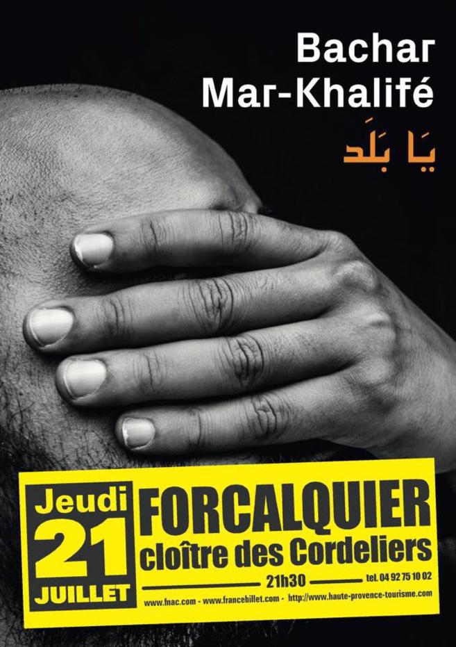 Bachar Mar-Kalifé bientôt à Forcalquier