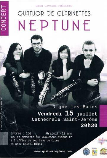 Le quatuor Neptune en concert à Digne ce soir