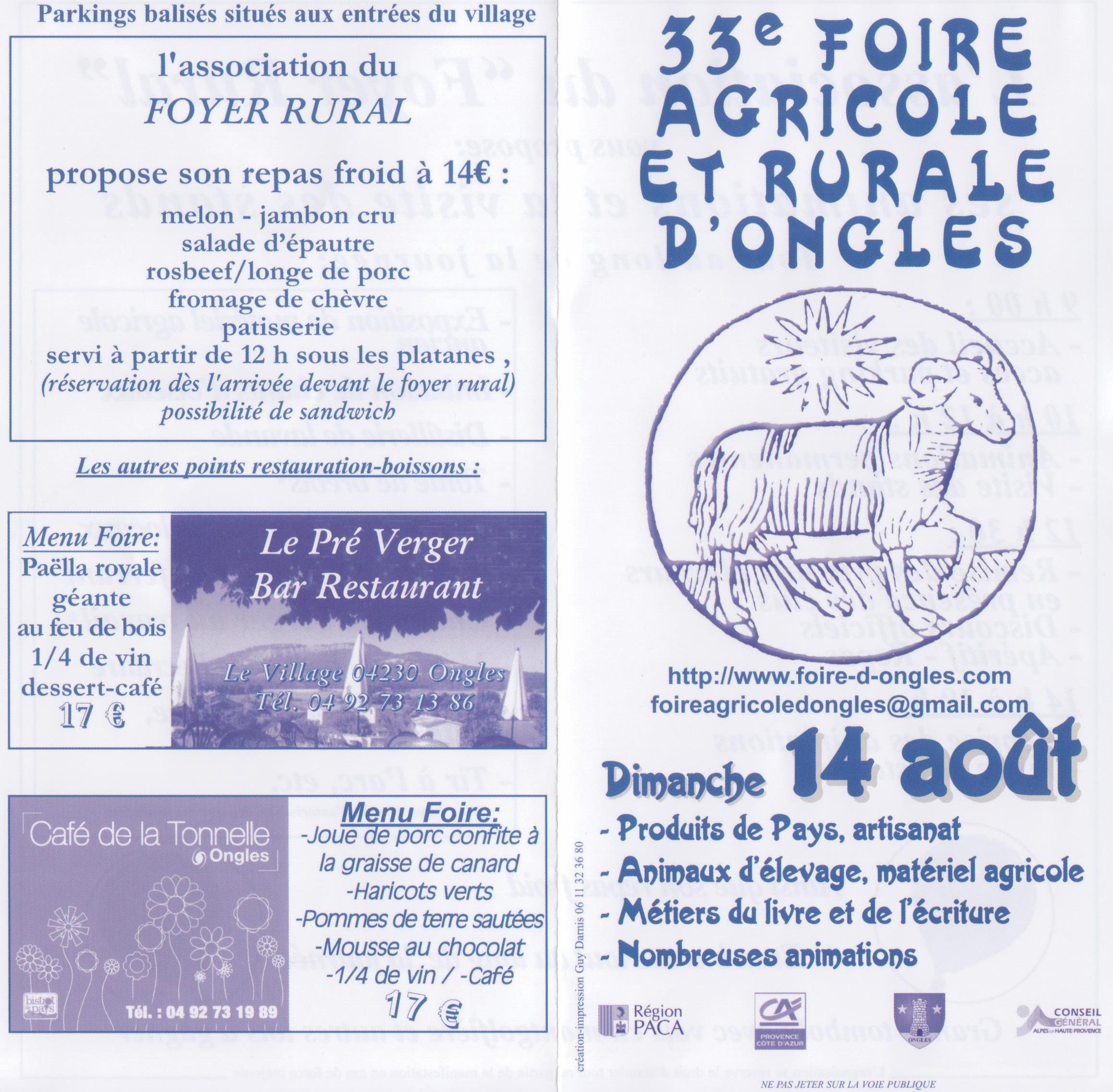 33ème édition de la Foire agricole d'Ongles