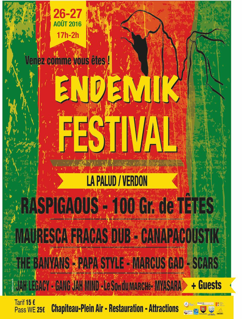 ENDEMIK festival : du reggae dans les gorges du Verdon !