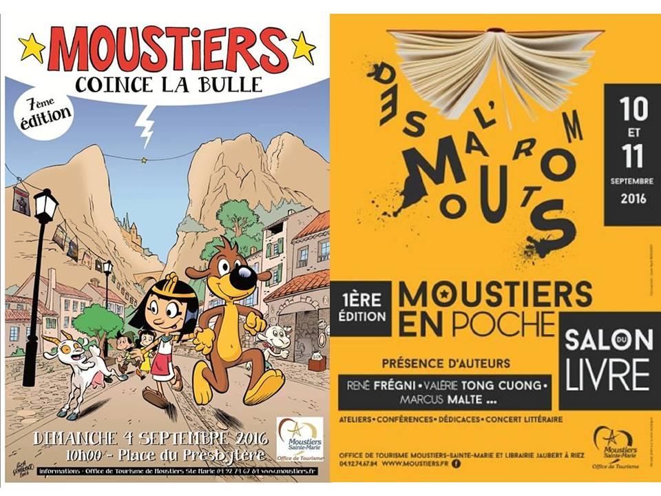 « Moustiers Coince la Bulle » et « Moustiers en poche »,  la cité de la faïence fête les livres ces deux prochains week-ends.