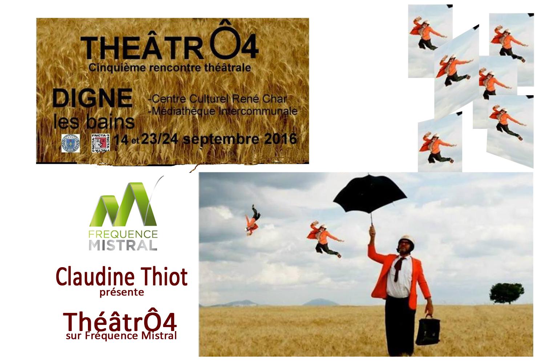 La comédienne Claudine Thiot présente la 5ème édition de ThéâtrÔ4
