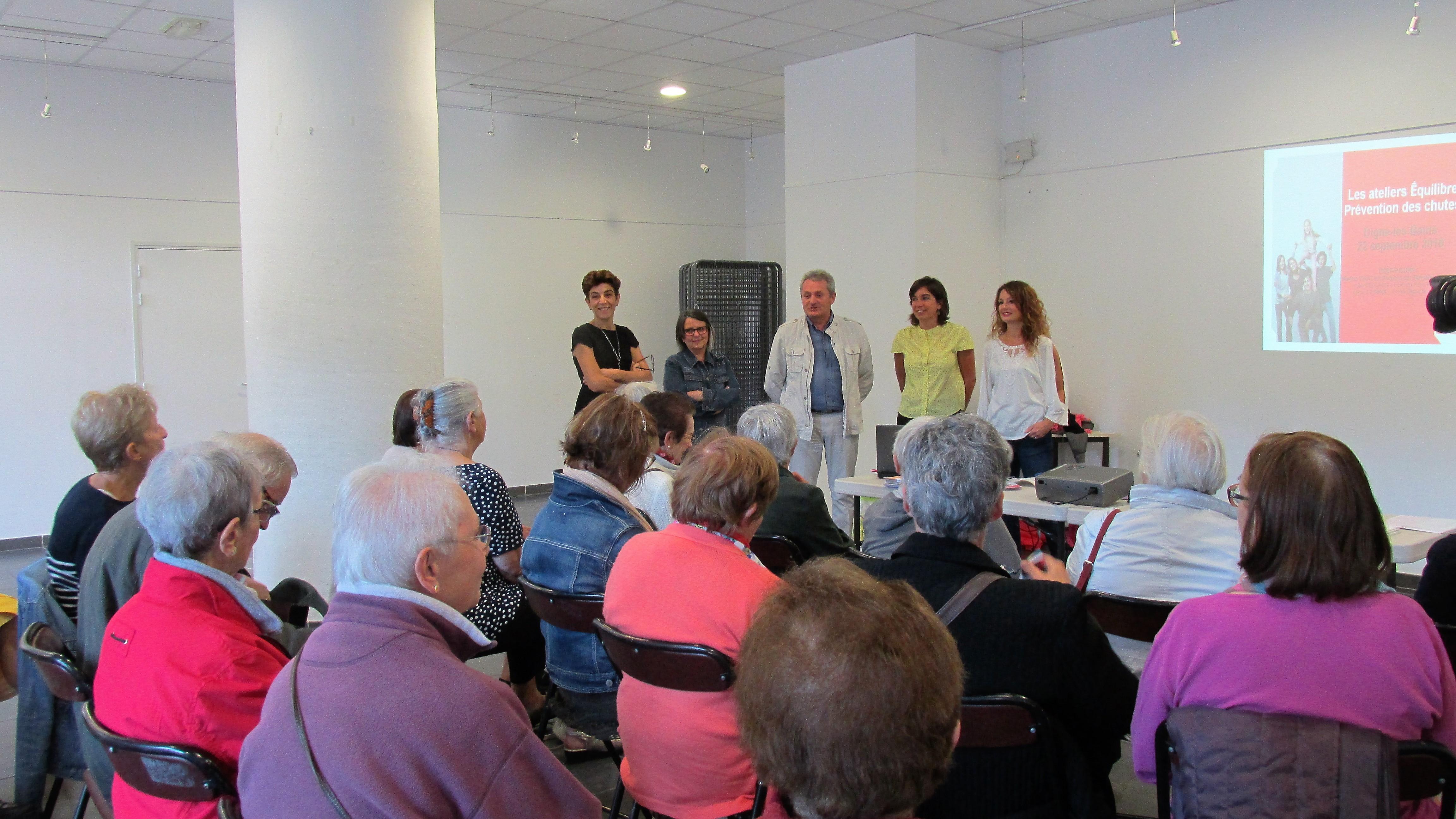 A Digne, Les seniors s'intéressent aux ateliers d'équilibre.