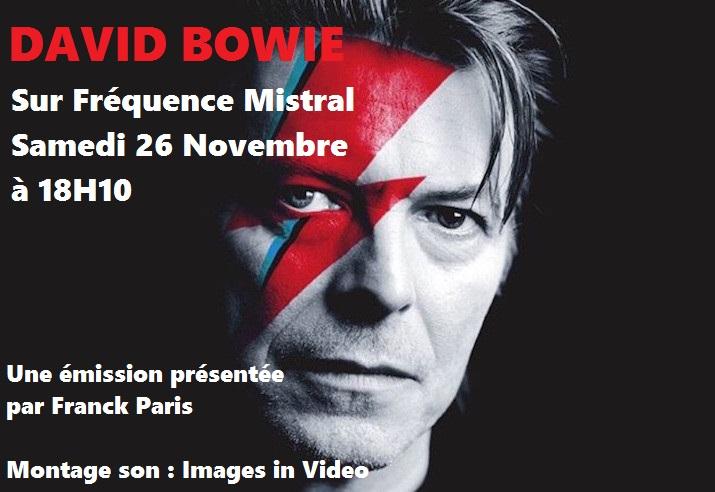 Franck Paris va célébrer David Bowie sur notre antenne samedi !