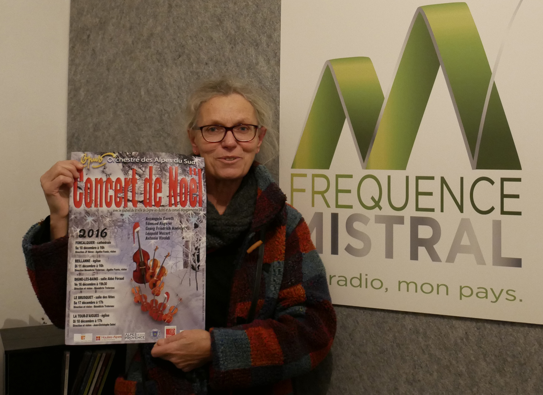 Francelyse Delannoy présente les concerts de Noël de l'Orchestre OPUS