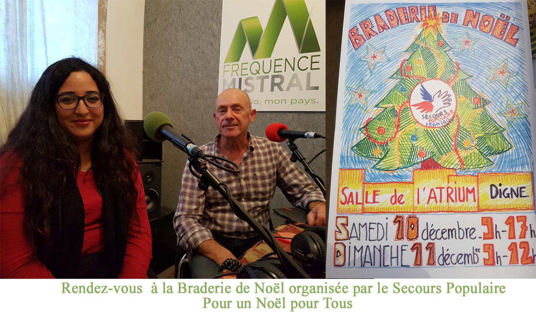 La braderie du secours populaire ce samedi 10 décembre à l'atrium pour offrir un Noël à tous les enfants